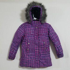 Columbia Girls Small Winter Jacket Coat Pink Fur